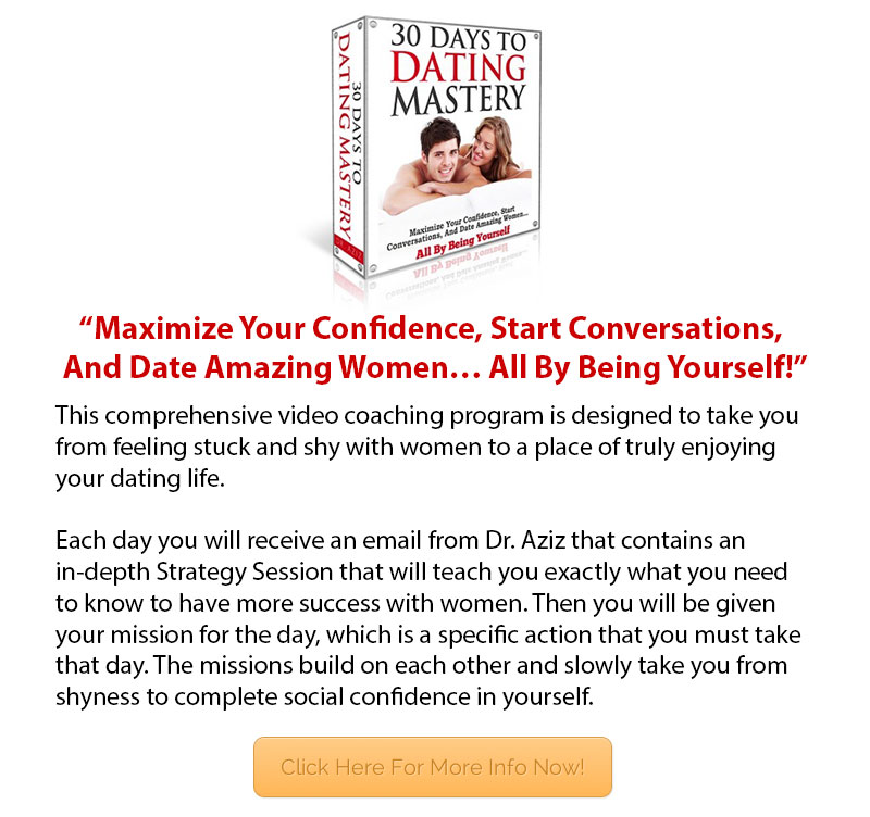 30 Days To Dating Mastery Under Video Feature